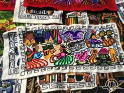 Hand stitching of island life
